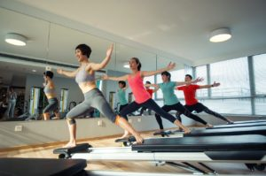 Group of People Doing Pilates