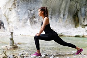 Woman Stretching: Aerobic Exercise Can Improve Physical Fitness
