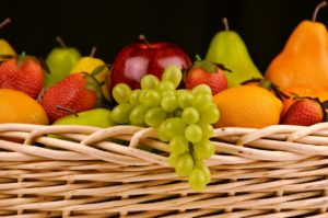 Apple, Grapes, Strawberries, and Citrus Fruits