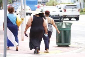 Obese Women Walking