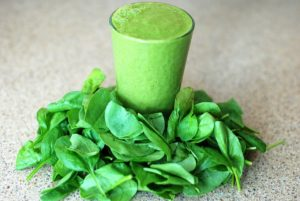Spinach Leaves and Smoothie