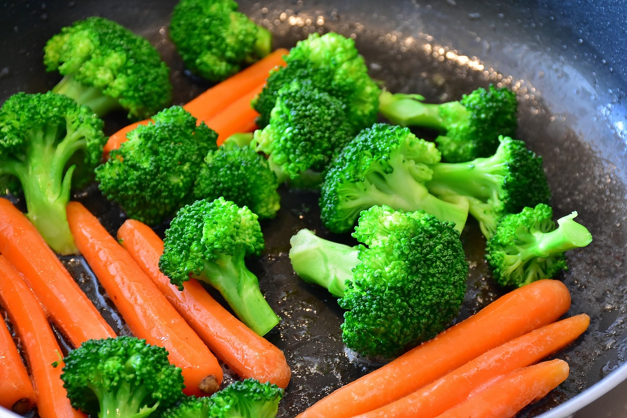 Broccoli and Carrots as Part of a Vegan Diet
